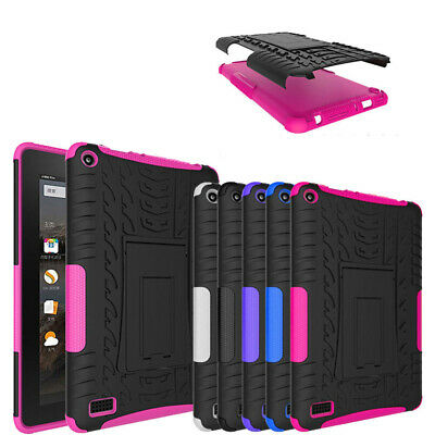 Hybrid Heavy Duty Stand Hard Soft Case Cover for Amazon Fire HD 8 6 7 8th Gen