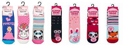Baby Girl Toddler Thermal Gripper Slipper Socks Non Slip Skid Kids Uk Size 4-6