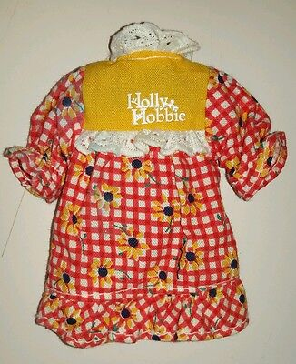 Vintage Holly Hobbie Hobby small toy doll dress clothes