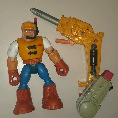 Vintage 1997 Fisher Price Rescue heroes hero work man toy doll figure 1990's