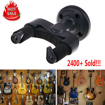 1x Electric Guitar Wall Hanger Holder Stand Rack Hook Mount for All Size Guitars