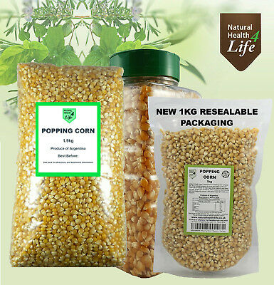 Popping corn, Popcorn Kernels Seeds Weights 50g up to 25kg No GMOs Post Free