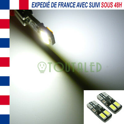 2X Ampoule Lampe 12V T10 W5W 4 Led 5630 Blanc Froid Xenon Interieur Tuning