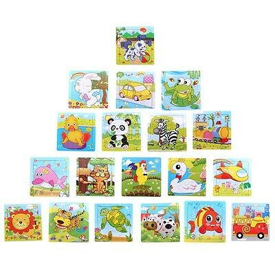 Applied Wooden Animal Puzzle Jigsaw Early Learning Baby Kids Educational Toys