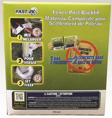 Fast2k 254-20-F FENCE POST BACKFILL 1 BAG = 2 CONCRETE BAGS 26OZ fences posts