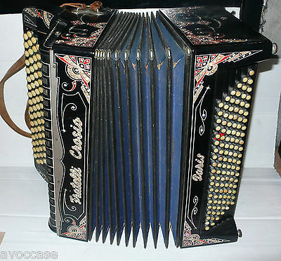 Superbe Accordeon Fratelli Crosio  Paris Collection Vintage