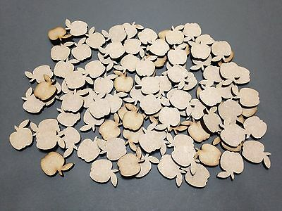 A9 MDF Scrapbook 20mm Apples Laser Cut Embellishments Wooden Craft Shape Gift