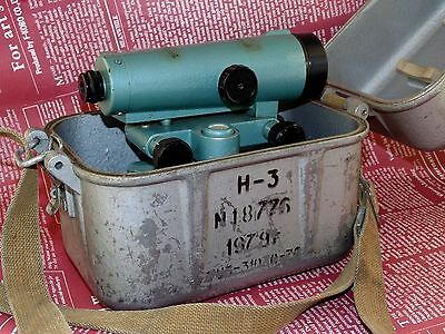 Russian Soviet SURVEYING LEVEL N-3 theodolite 1979 Made in Ussr