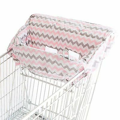 Bambella Designs Trolley Cover Liner - Universal Fit - PINK CHEVRON