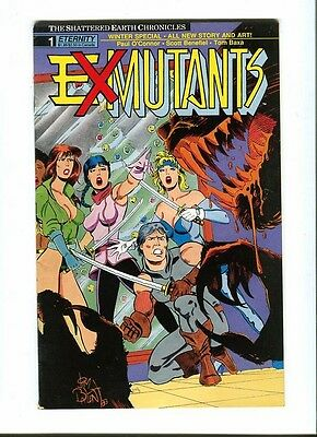 Ex - Mutants : Winter Special 1 .The Shattered Earth ... Eternity 1989 - FN +