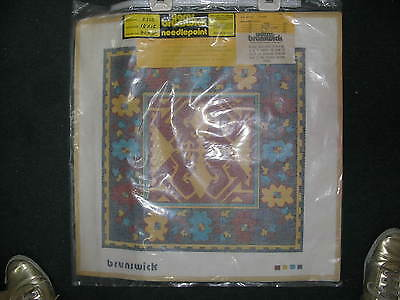 "Painted needlepoint Kit complete with canvas & Yarn by Brunswick P330 15"" x 15"""