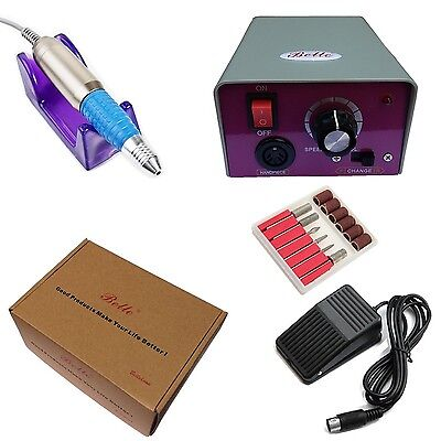 Belle 20000 RPM Manicure Pedicure Electric Nail Drill File Machine With Foot ...
