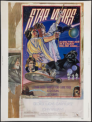 1970's Sci-Fi  * Star Wars * Style D Movie Poster 1977  13x19