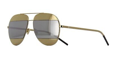 e1e63489d64 CHRISTIAN DIOR SPLIT 1 000DC Rose Gold with Silver Mirror Sunglasses ...