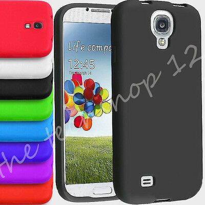 Plain Soft Silicone Gel Rubber Skin Back Cover For SAMSUNG GALAXY S3 S4 MINIs