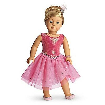 NEW American Girl Isabelle's Pink Sparkle Dress Outfit Set 5 Items Fast Shipping