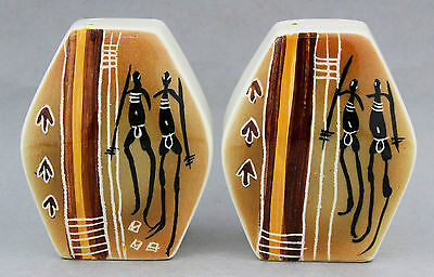Vintage STUDIO ANNA Salt Pepper Set Souvenir Australian Pottery Kitchenalia