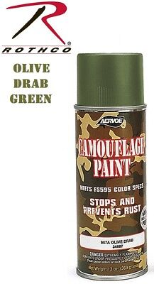 OD Green Olive Drab Camouflage 12 Oz. Aerosol Can Spray Paint Can Rothco 8223