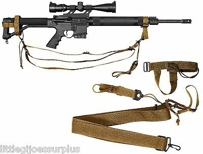 COYOTE BROWN Police & Military Tactical & Airsoft 3-point Rifle Sling 4077