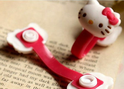 2pcs HelloKitty Earphone cord winders Cable Tidy Wrap Wires Organizer Holders B6