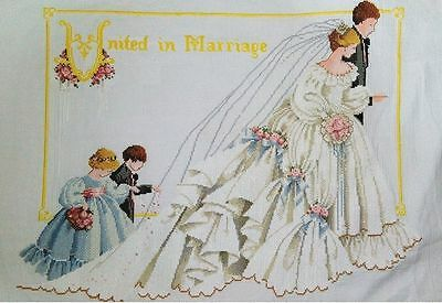 "New Completed Cross Stitch Needlepoint""MARRIAGE""Home Decor Gifts"