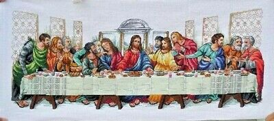 "New Completed Cross Stitch Needlepoint""LAST SUPPER""Home Decor Gifts"