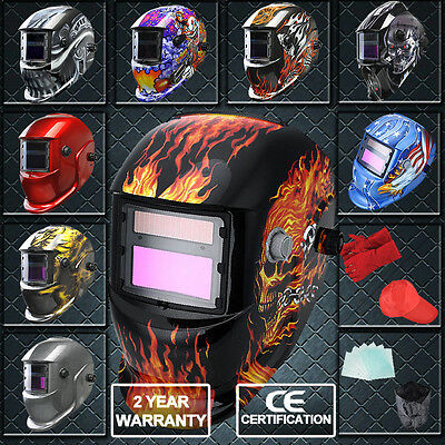 Auto Darkening Welding Helmet Mask Welders Arc Tig Mig Solar Powered UK Stock
