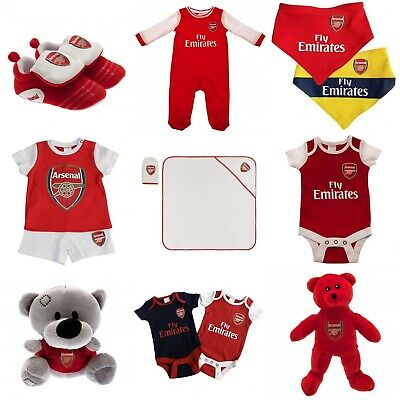 Arsenal Baby Kit Babygrow Sleepsuit Vests Body Suit Baby Shirt Short Socks Bibs