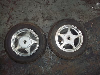 Lexmoto Scout 50 Pair Of Wheels Front And Rear With Tyres 3.50-10