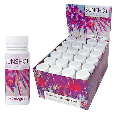 24x SUNSHOT Tan & Beauty Drink - neue Rezeptur - je 60 ml