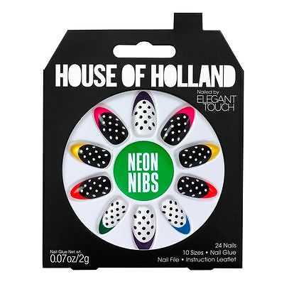House Of Holland False Nails - Neon Nibs (24 Nails)