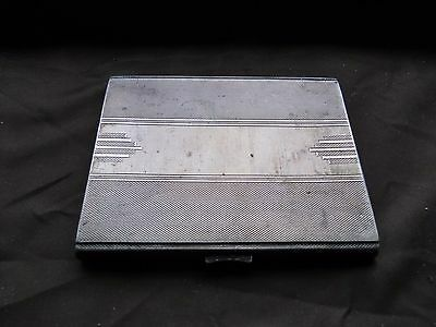 Cigarette / Card Case, Sterling Silver, Art Deco, Engine Turn, Sheffield 1909