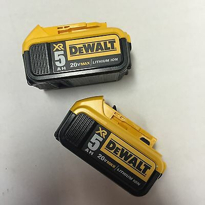 Dewalt 2 pack of 20 volt Max XR 5 amp Lithium ion Batteries Brand New DCB205 NEW