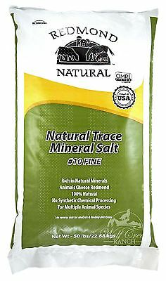 Redmond Natural Trace Mineral Salt for Livestock ~ Fine ~ 50 lbs.