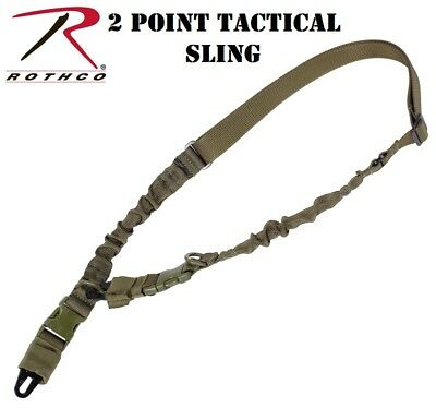 OD Green 2 Point Rifle/Shotgun Police Military Airsoft Tactical Sling 4654A