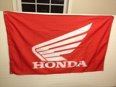 New Honda Red Wing Racing Flag 3'x5' Motorcycle Motocross Man Cave Free Shipping