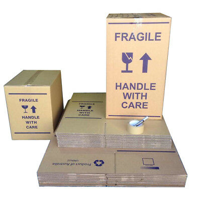 10x100L+10x50L MOVING BOXES+PACKING MATERIALS CARDBOARD REMOVALIST PACKAGE DEAL