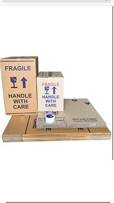 20 X50L Bwplain Moving Boxes Cardboard Removalist Package