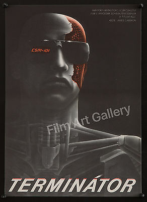 THE TERMINATOR Best poster NM Arnold Schwarzenegger James Cameron filmartgallery