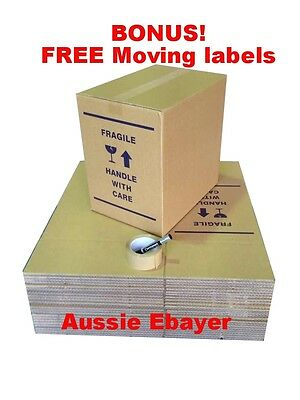20 X 50L Moving Boxes + Packing Materials Cardboard Removalist Package Deal.