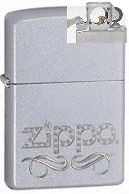 Zippo 24335 scroll chrome Lighter with PIPE INSERT PL