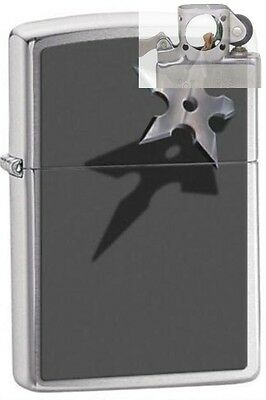 Zippo 28030 star & shadow chrome Lighter with PIPE INSERT PL