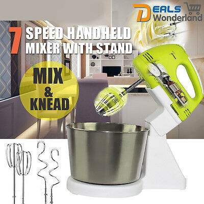 Electric Hand Stand Mixer Balloon Whisk Beater Food Held Powerful Appliances