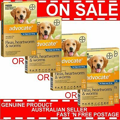 Advocate for Dogs Over 25kg ALL SIZES 1 Pack, 3 Pack, 6 Pack or 12 Pack