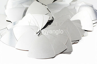 24pcs Triangle Heavy Metal 0.3mm Stainless Steel Guitar Picks Bass Plectrums