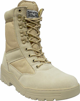 Desert Army Combat Patrol Boots Tactical Military Work Tan Jungle Suede 909