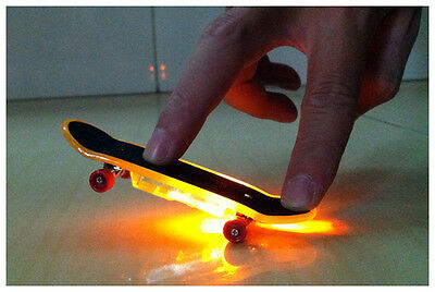 LED Finger Board Mini Colorful Skateboard Tech Deck Boy Kids Children Toy Gifts