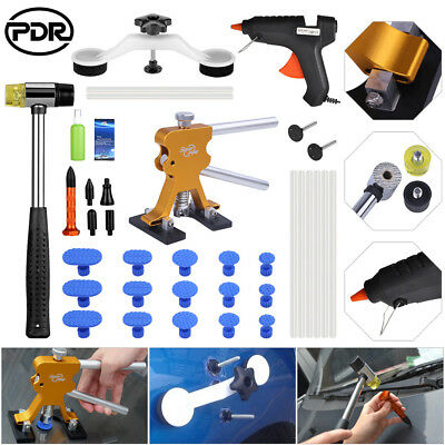 Super PDR Tools Dent Lifter Paintless Repair Glue Puller Body Removal Kit Tap
