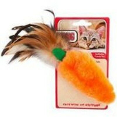 Dr Noys Feather Top Carrot Catnip Toy, Premium Service, Fast Dispatch