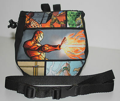 Chalk Bag for Climbing Bouldering or Gym with Belt - Style Marvel Comic Book